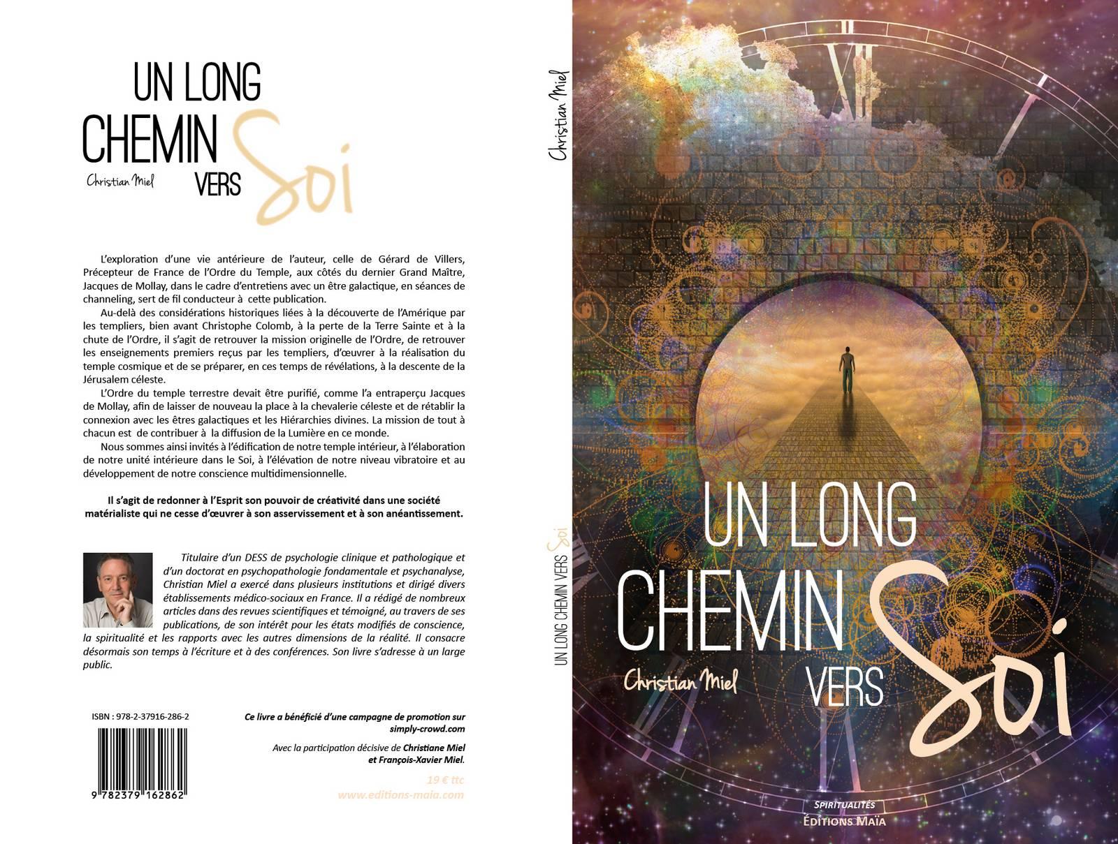 Couverture du 6ème livre de Christian MIEL - UN LONG CHEMIN VERS SOI